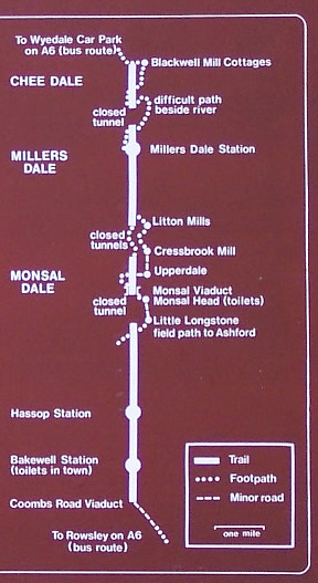 Image: Schematic map of the Monsal trail before the re-opening of the tunnels.