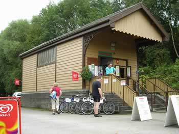 Image: Waterhouses cycle hire centre and shop, Manifold Way, Derbyshire/Staffordshire borders, Peak District.