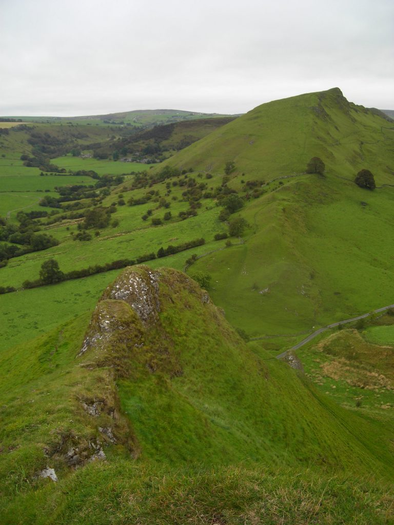 Image: classic Peak District walks - the view towards Chrome Hill.