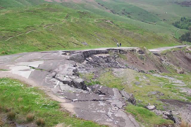 Image: Castleton Geology - The Road Destroyed by the Mam Tor Landslip